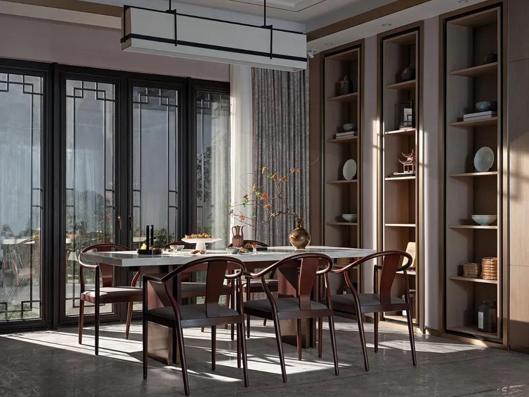 300m²新中式设计,风雅禅意空间美学!